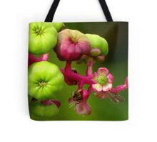 Poke Flower Changing To Berries Tote Bag