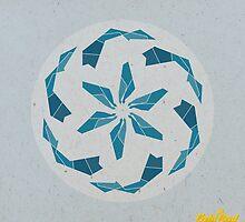Blue Geometric Mandala by goldsoul