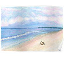 Sunday Morning on Flagler Beach Poster