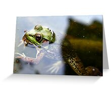 Get these skeeters off my nose!!! Greeting Card
