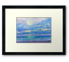 Water and Light (pastel) Framed Print
