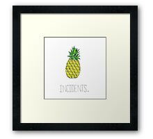 Incidents Framed Print