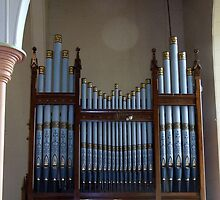 The Organ Pipes Longford Anglican Church by wiccanrider