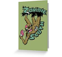 Zombie Sloth Greeting Card