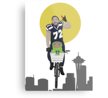 Michael Bennett Does Victory Lap With ET Metal Print