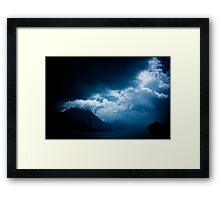 behind the clouds III Framed Print