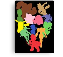 The Original Smash Crew silhouettes Canvas Print
