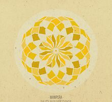Manipura - The Solar Plexus Chakra Mandala by goldsoul