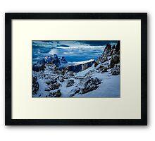 Snowy Delight Framed Print