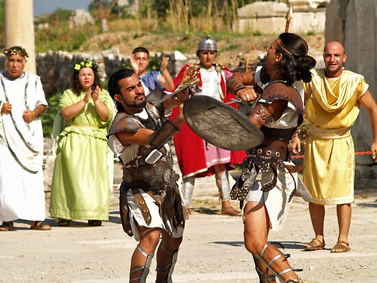 Gladiators Fighting by Memaa