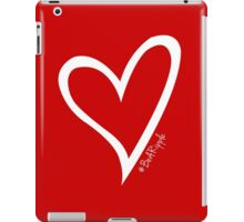 #BeARipple Original White Heart iPad Case/Skin