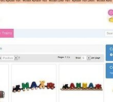 Magnetic alphabet train by davidsonseo