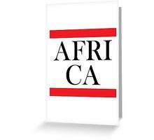 Africa Design Greeting Card