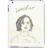 sketch of jennifer lawrence from the hunger games iPad Case/Skin