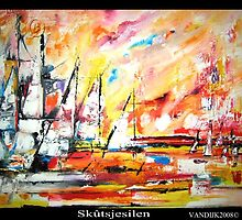 Skûtsjesilen by Olga van Dijk