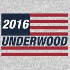 Frank Underwood For US President 2016 by Jelle Van de Vliet