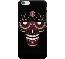 Maroon Skull iPhone Case/Skin