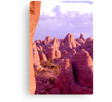 Colorful Rock Formations (Arches Nat'l Park, Utah, USA) Canvas Print