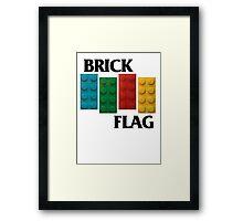 Brick Flag B Framed Print