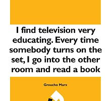 On Books - Groucho Marx by Colin Robson