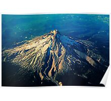 Flying above an Oregon Landscape Poster