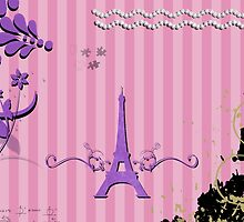 Memories from Paris - Pink, Purple  by sitnica
