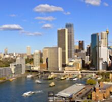 "Sydney Harbour Panorama 70"" x 10"" 20 images by DavidIori"