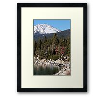 Lodge On The Lake Framed Print