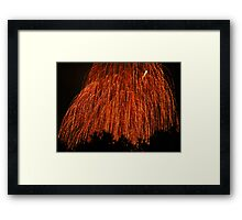 Fireworks - Weeping Willow Framed Print