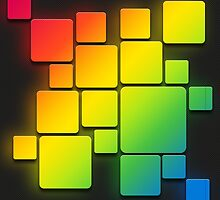 Colorful glowing squares by rodrigooth