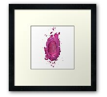 PinkPrint Framed Print
