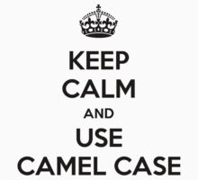 keep calm and use camel case by giovybus