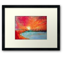 Sunrise.... Sunset. Framed Print