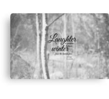 Winter Les Miserables Canvas Print