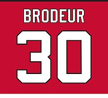 New Jersey Devils Martin Brodeur Jersey Back Phone Case by Russ Jericho