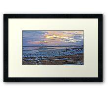 Winter sunset over Iceland Framed Print
