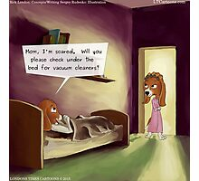 Under The Bed In The Dog House  Photographic Print