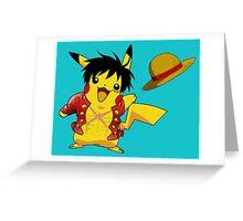pika straw hat Greeting Card