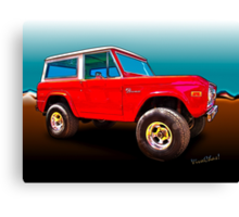Ford Bronco Classic from VivaChas Hot Rod Art Canvas Print