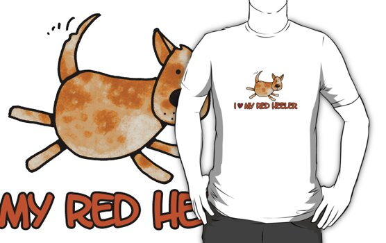 I love my red heeler by Corrie Kuipers