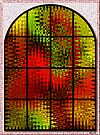 Modern staind glass window. by ronsphotos