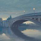 Reading Bridge at Night. by Richard Picton