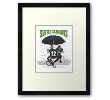 Seattle Seahawks Coat of Arms Framed Print