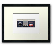 Nes Controller Print! Framed Print