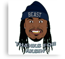 Marshawn Lynch Interview Canvas Print