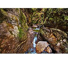 Canyon and river Photographic Print
