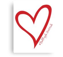 #BeARipple...Gratitude Large Red Heart Canvas Print