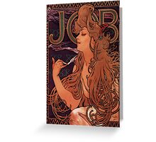 'Job' by Alphonse Mucha (Reproduction) Greeting Card