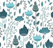 Frozen Flowers Pattern by JuliaBadeeva