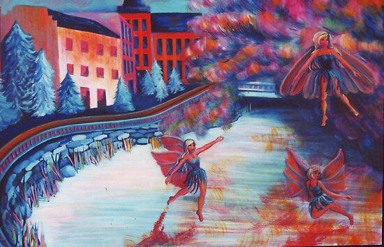 Fairies on The Lake by Jill Mattson